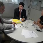 Representantes do MPE/AL e MPC/AL estiveram reunidos na manhã desta segunda-feira  (Foto: Ascom MPC/AL)
