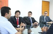 Procurador-geral Enio Pimenta e o Procurador de Contas Rafael Alcântara participaram de reunião na AMA (Foto: Igor Pereira/ Ascom AMA)